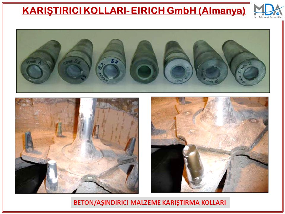 KARIŞTIRICI KOLLARI- EIRICH GmbH (Almanya)
