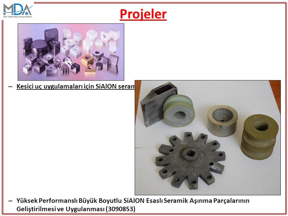 Projeler Kesici uç uygulamaları için SiAlON seramiklerinin mikroyapı tasarımı (TEYDEB 3040287)