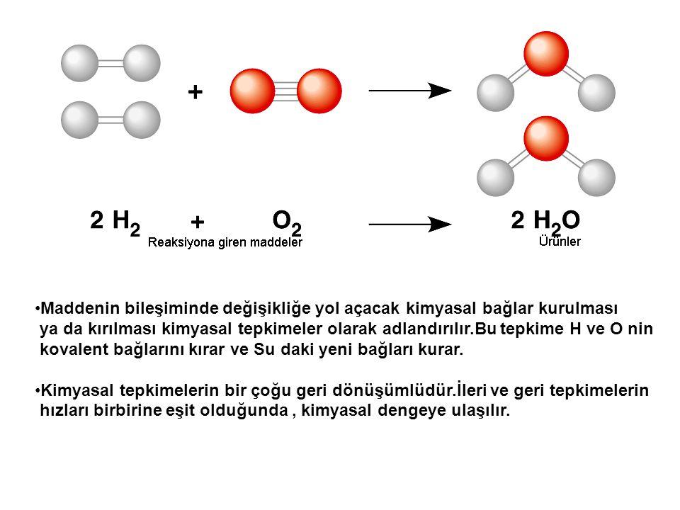 Maddenin bileşiminde değişikliğe yol açacak kimyasal bağlar kurulması