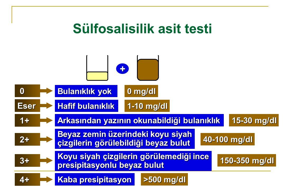 Sülfosalisilik asit testi