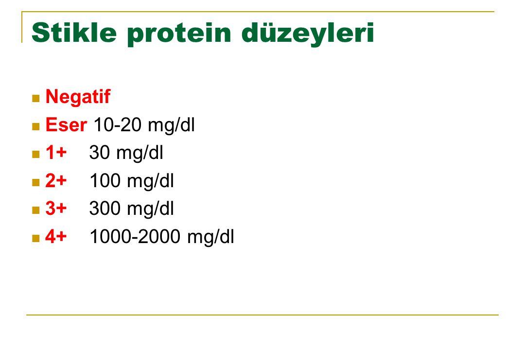 Stikle protein düzeyleri