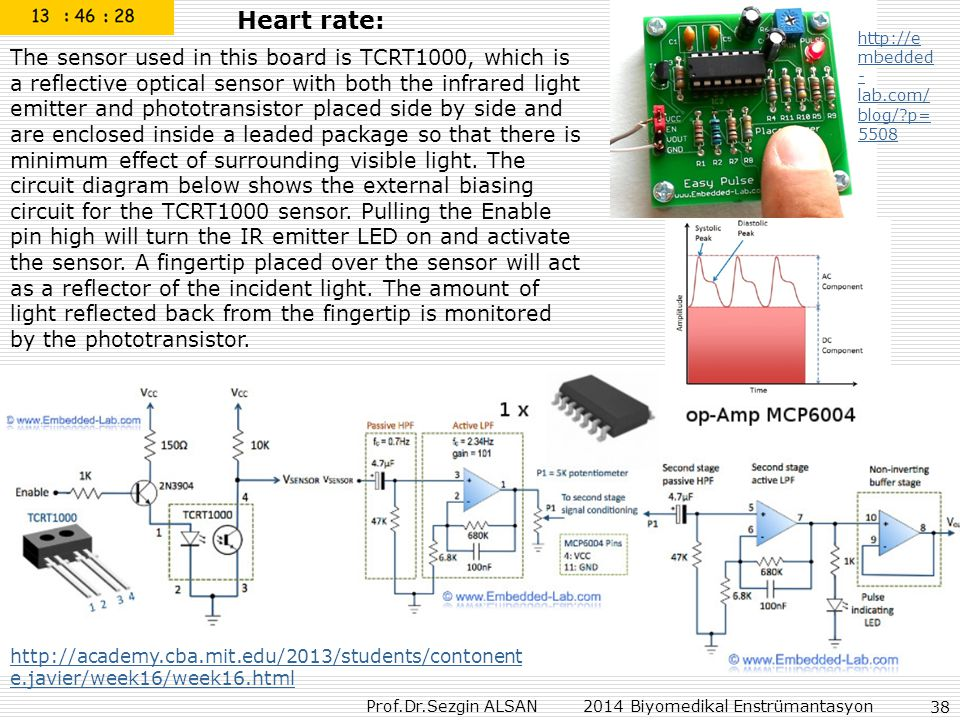 Heart rate: http://embedded-lab.com/blog/ p=5508.