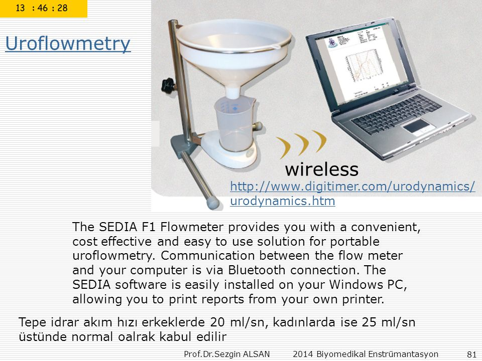 Uroflowmetry wireless