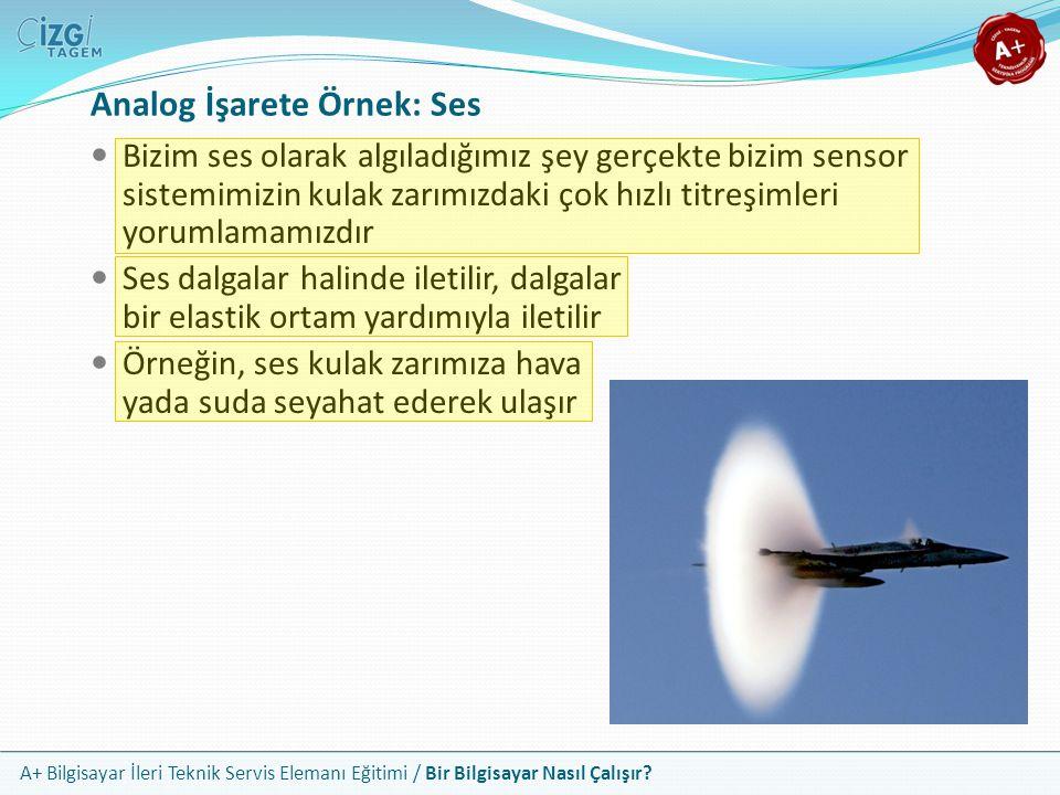 Analog İşarete Örnek: Ses