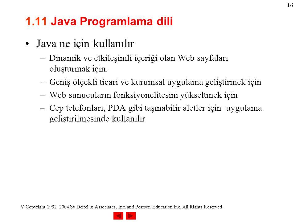 Java ne için kullanılır