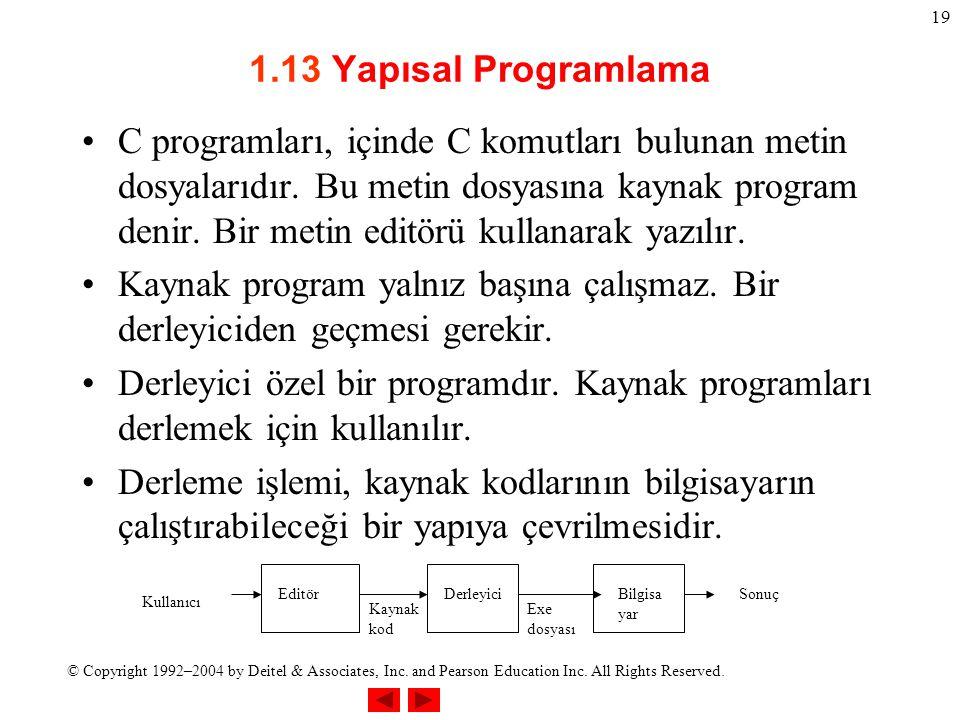 1.13 Yapısal Programlama