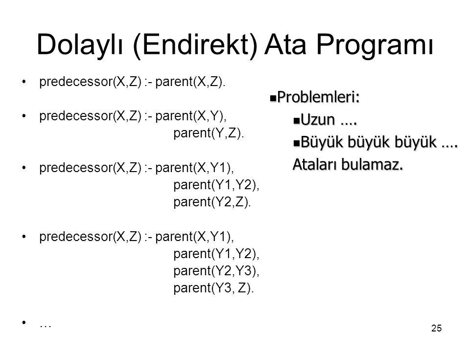 Dolaylı (Endirekt) Ata Programı