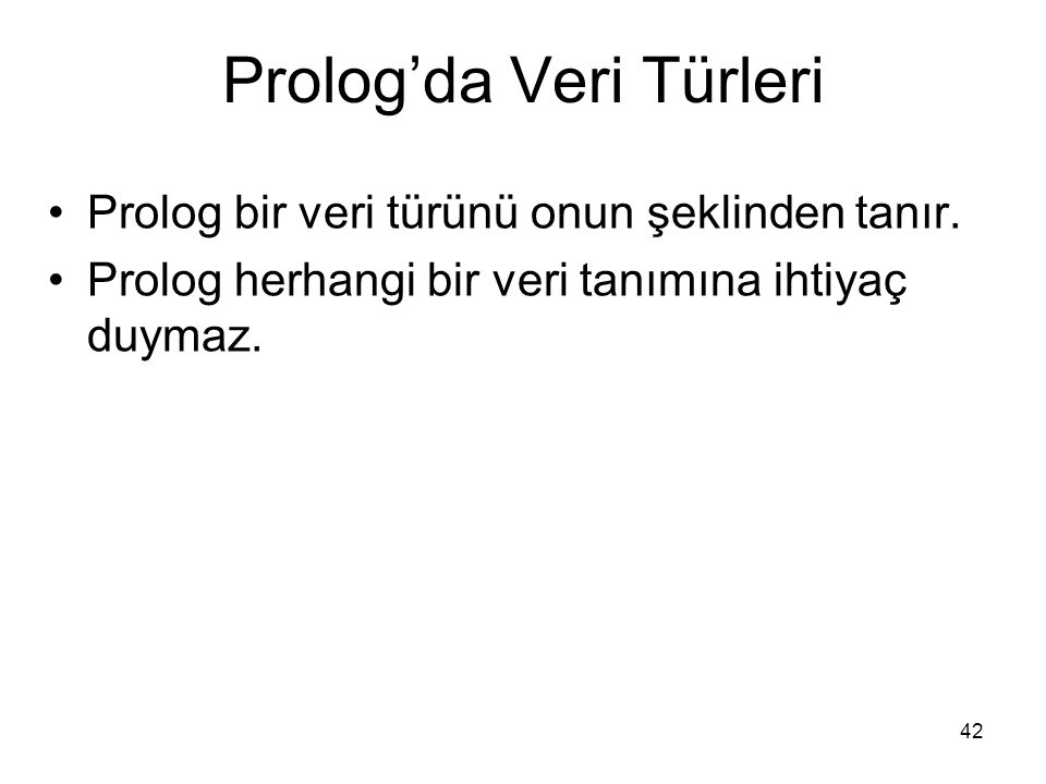 Prolog'da Veri Türleri
