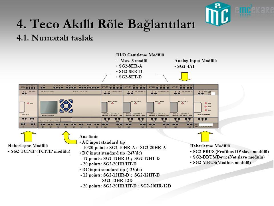 4. Teco Akıllı Röle Bağlantıları 4.1. Numaralı taslak