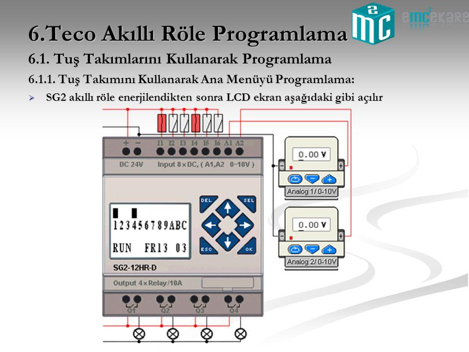 6.Teco Akıllı Röle Programlama
