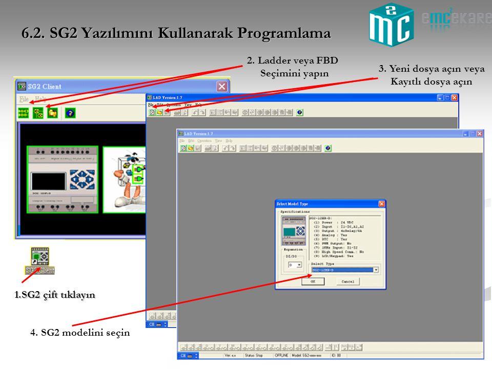 6.2. SG2 Yazılımını Kullanarak Programlama
