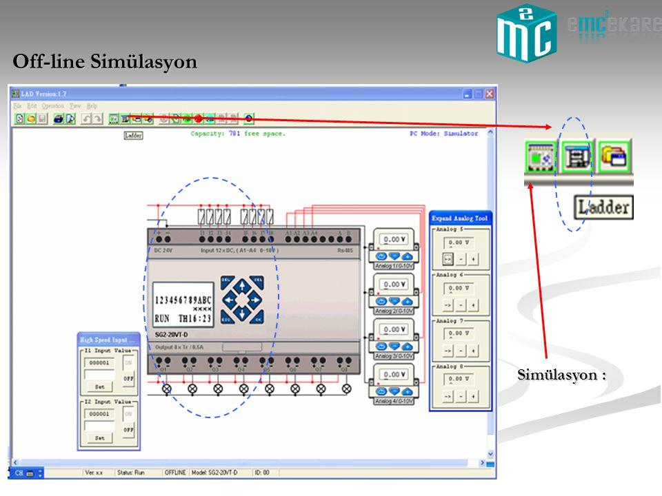 Off-line Simülasyon Simülasyon :