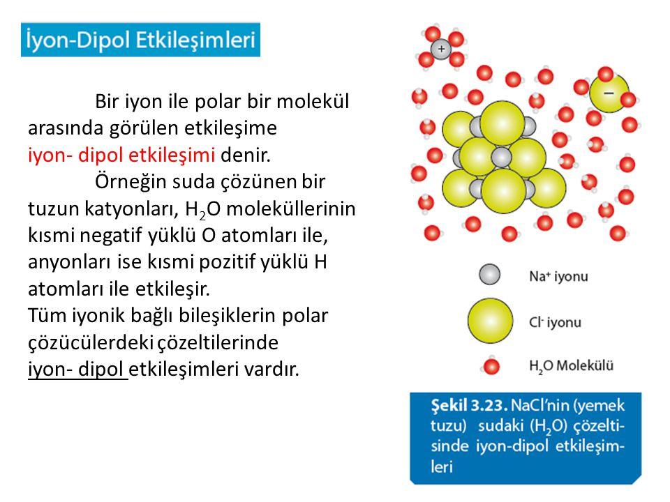 Bir iyon ile polar bir molekül arasında görülen etkileşime