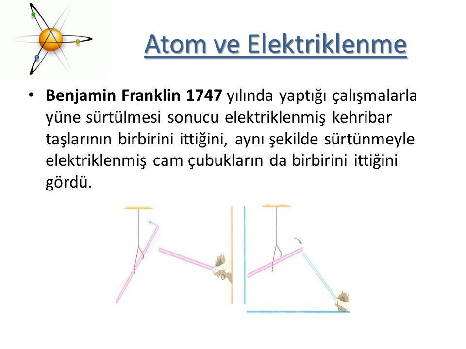 Atom ve Elektriklenme