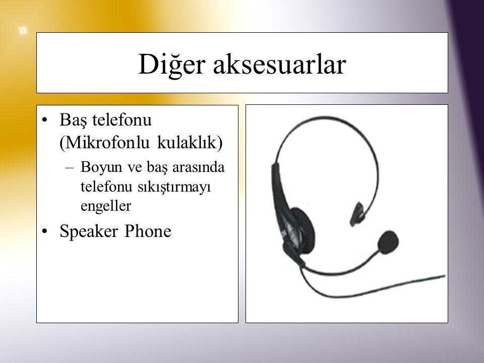 Diğer aksesuarlar Baş telefonu (Mikrofonlu kulaklık) Speaker Phone