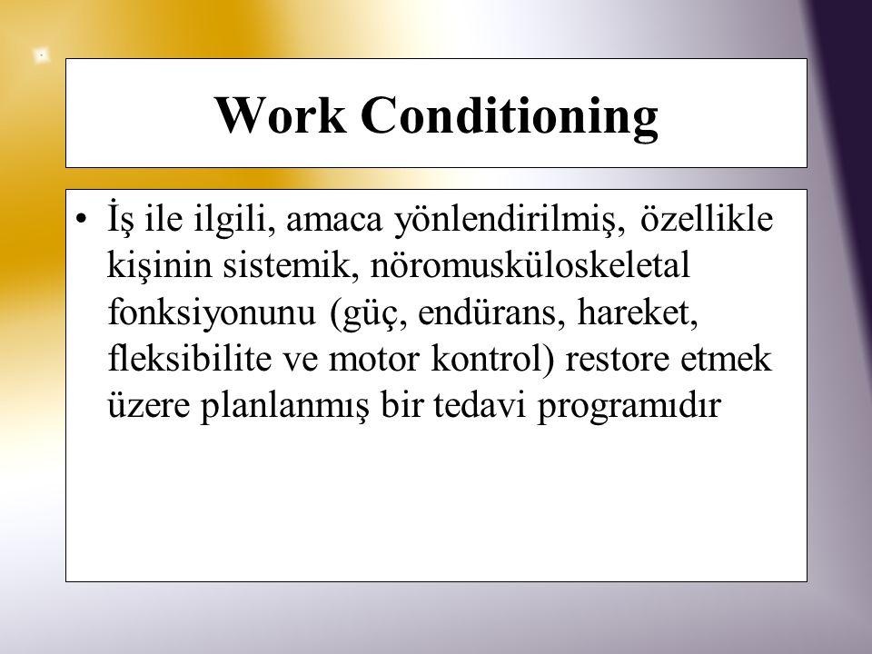 Work Conditioning