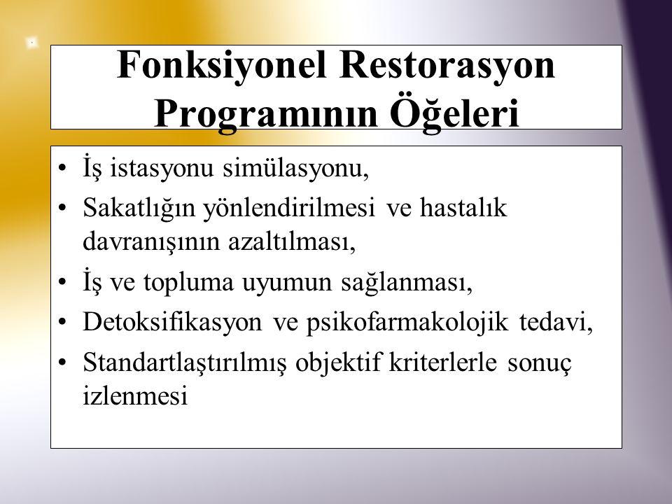 Fonksiyonel Restorasyon Programının Öğeleri
