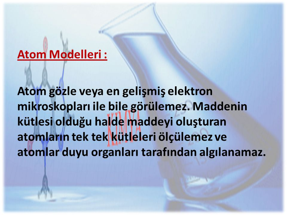 Atom Modelleri :
