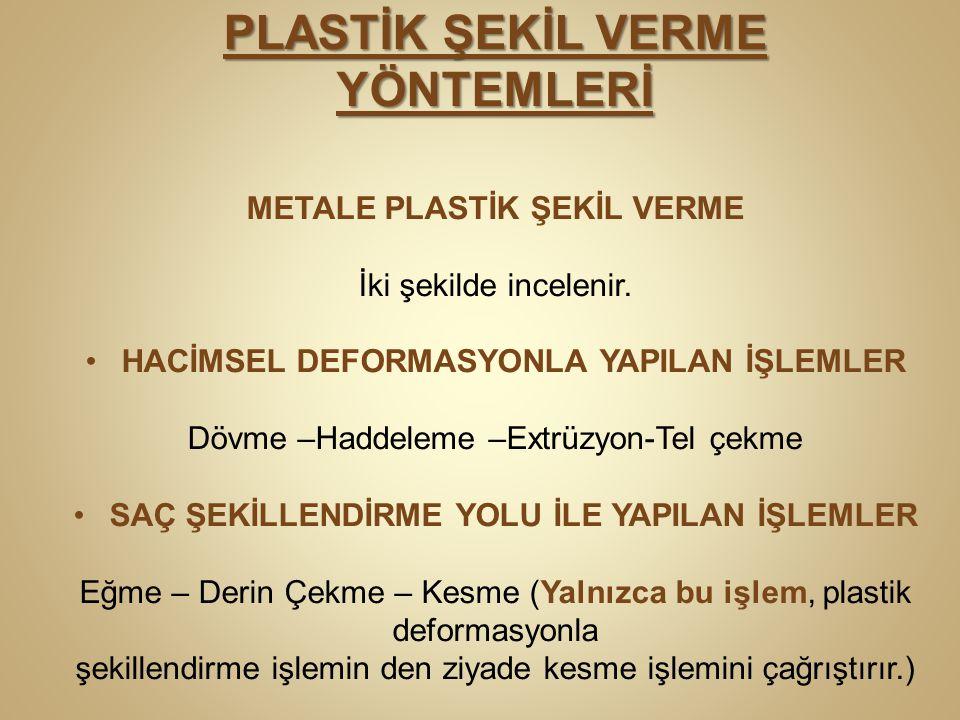 PLASTİK ŞEKİL VERME YÖNTEMLERİ