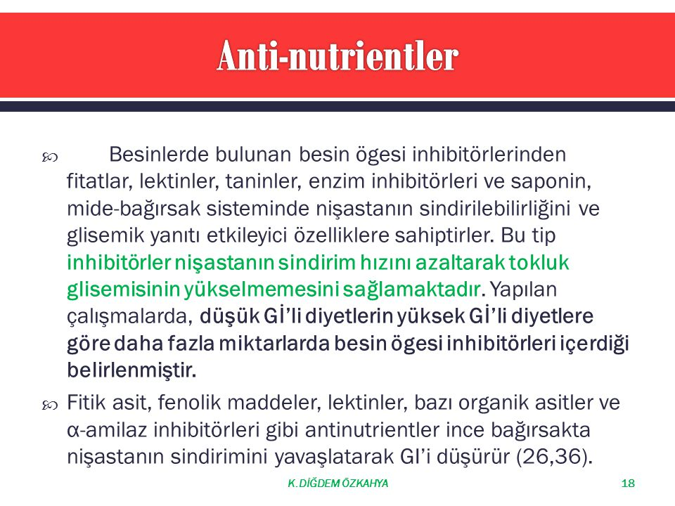 Anti-nutrientler