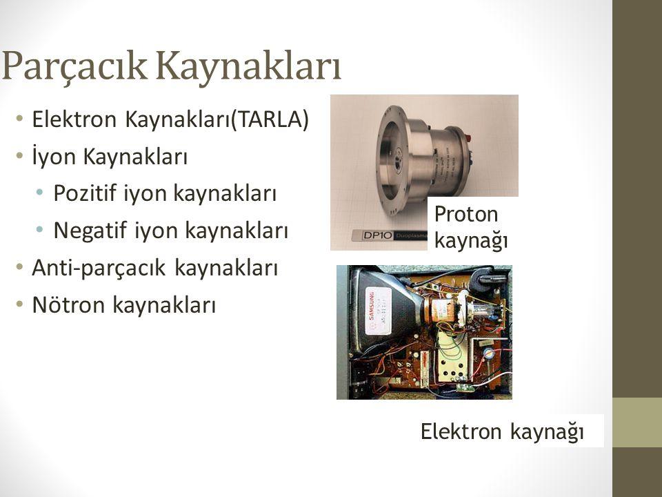 Parçacık Kaynakları Elektron Kaynakları(TARLA) İyon Kaynakları