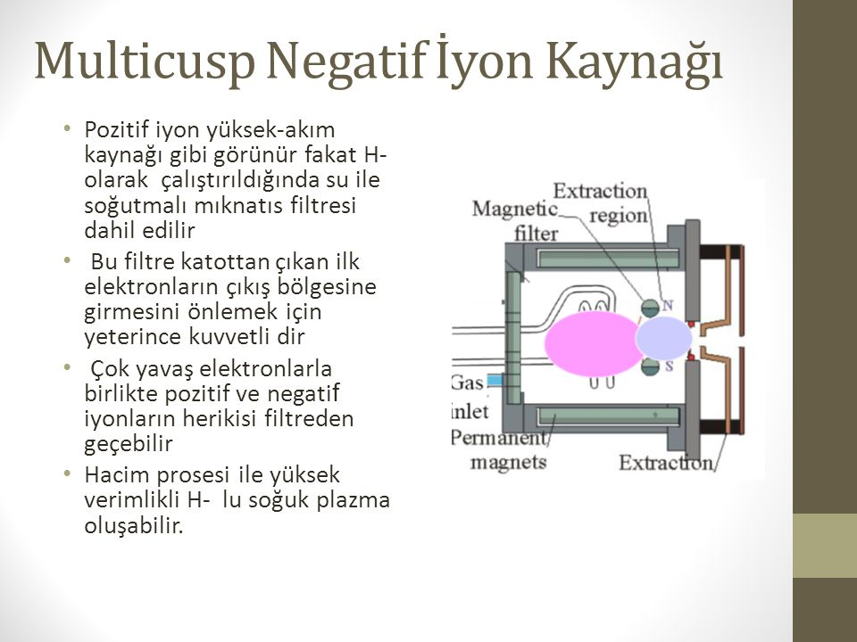 Multicusp Negatif İyon Kaynağı