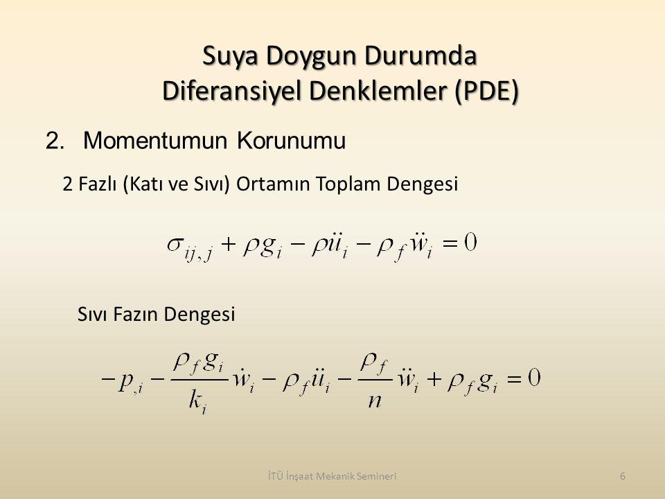 Suya Doygun Durumda Diferansiyel Denklemler (PDE)