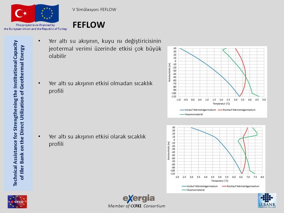 V Simülasyon: FEFLOW FEFLOW. Yer altı su akışının, kuyu ısı değiştiricisinin jeotermal verimi üzerinde etkisi çok büyük olabilir.
