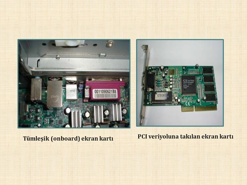 PCI veriyoluna takılan ekran kartı