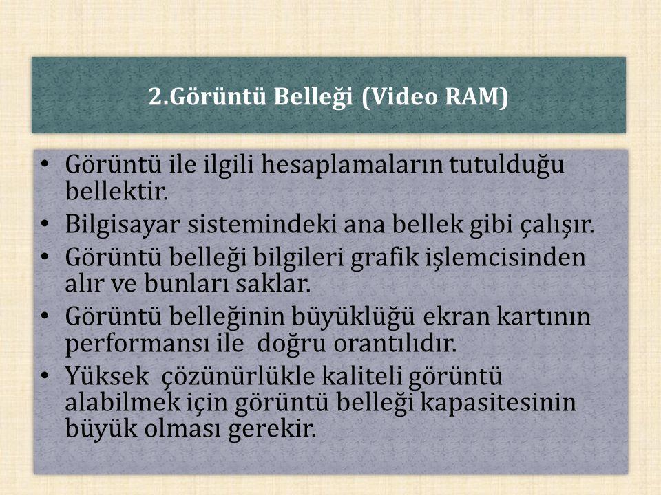 2.Görüntü Belleği (Video RAM)