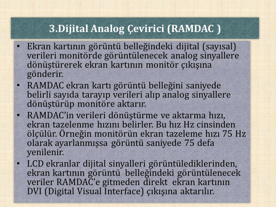 3.Dijital Analog Çevirici (RAMDAC )