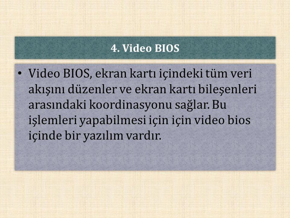 4. Video BIOS