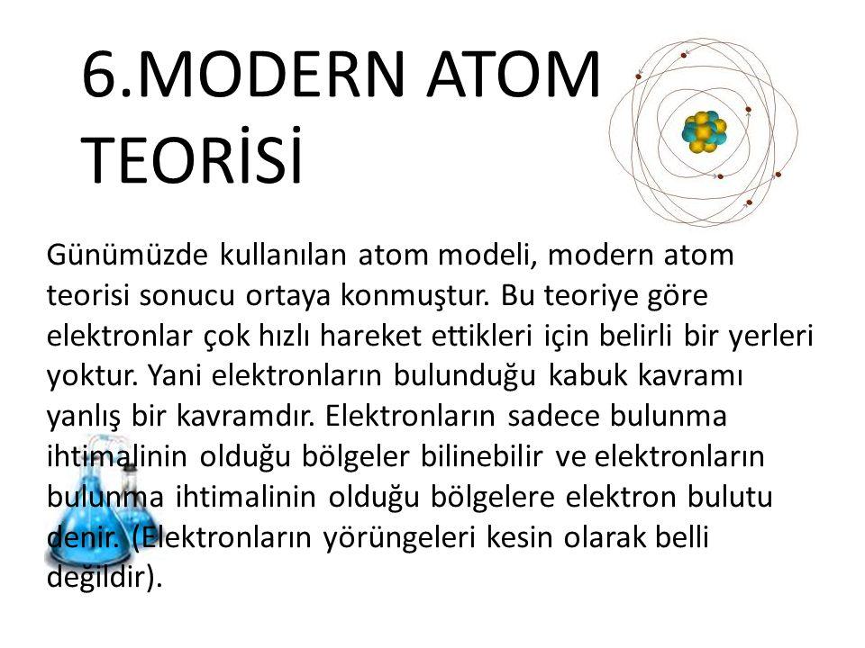 6.MODERN ATOM TEORİSİ