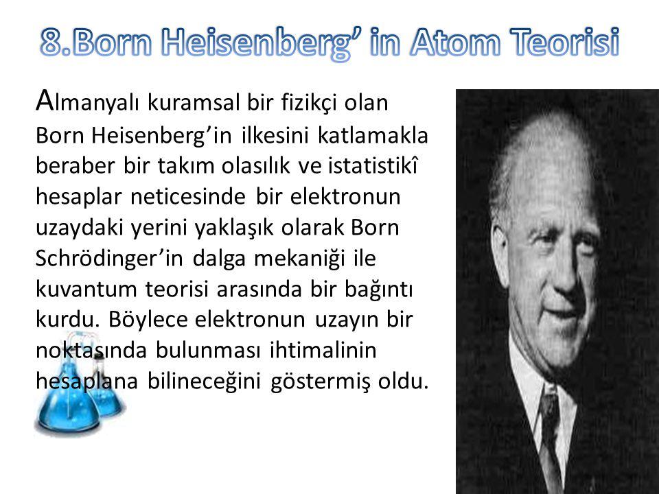 8.Born Heisenberg' in Atom Teorisi
