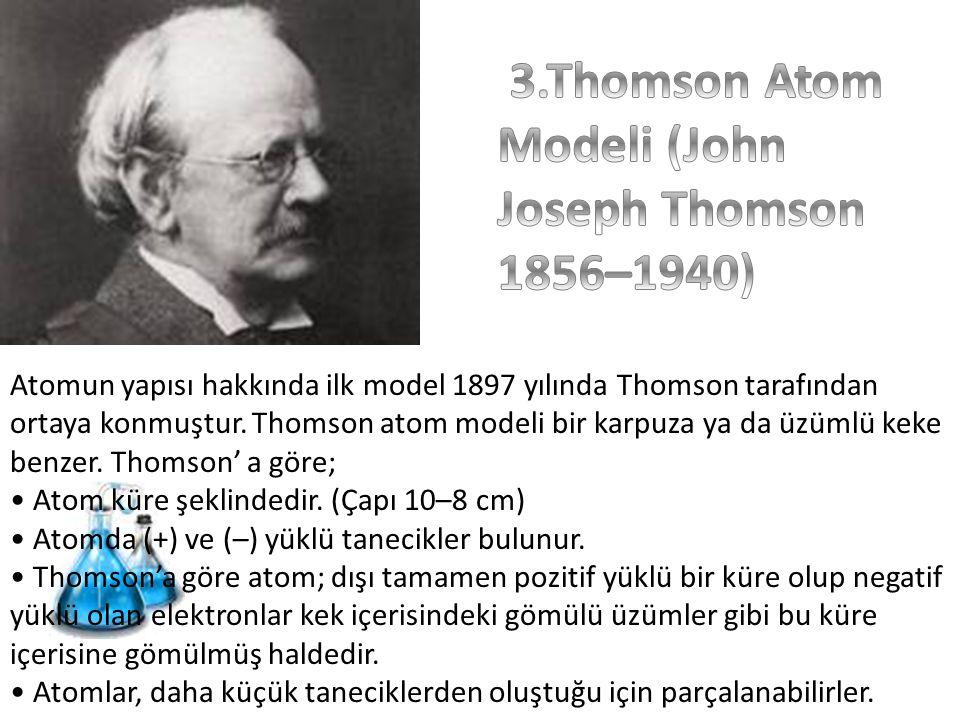 3.Thomson Atom Modeli (John Joseph Thomson 1856–1940)