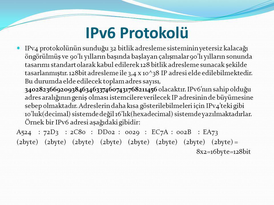 IPv6 Protokolü