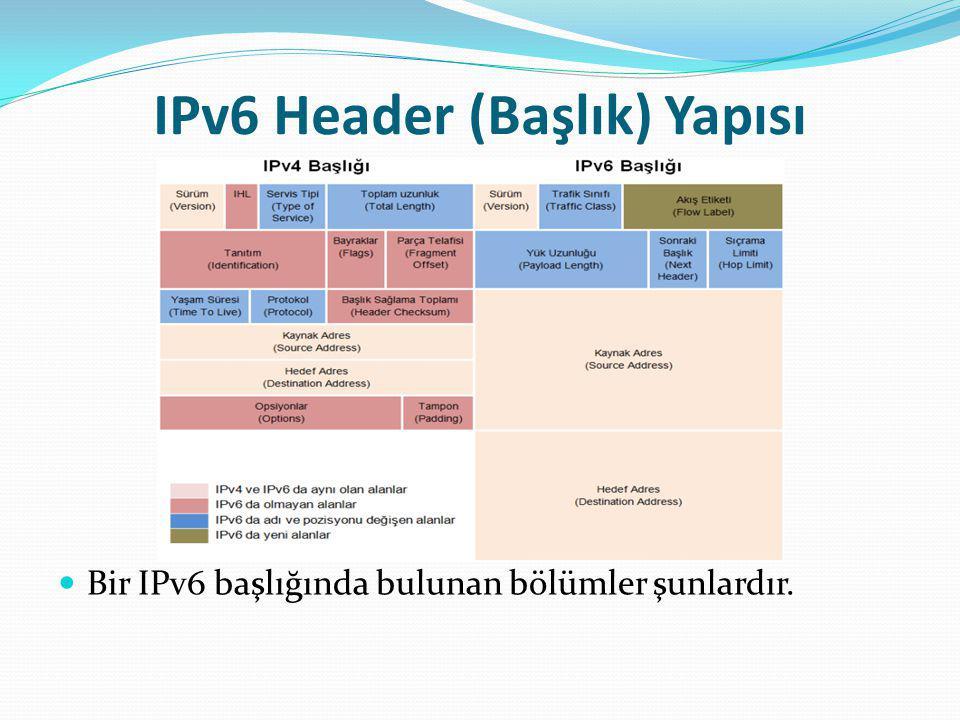 IPv6 Header (Başlık) Yapısı
