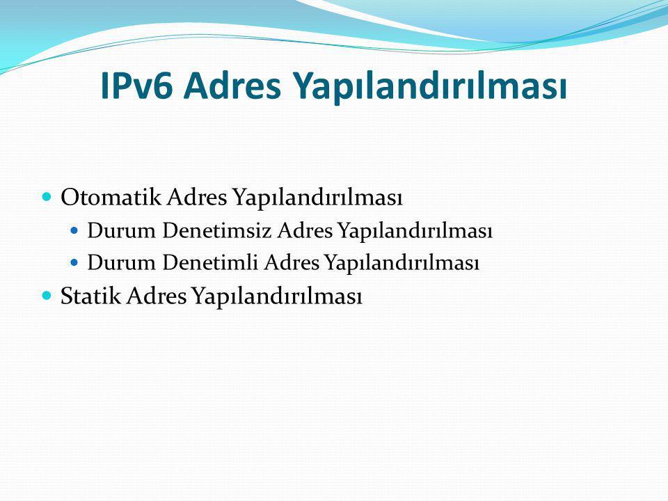 IPv6 Adres Yapılandırılması