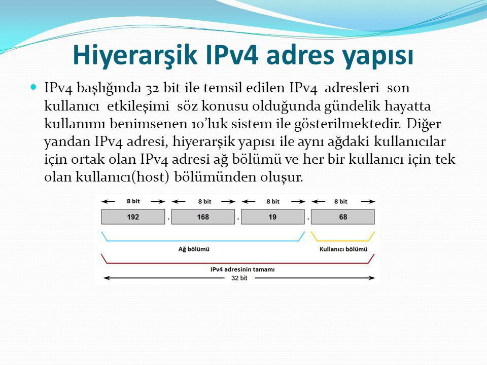 Hiyerarşik IPv4 adres yapısı