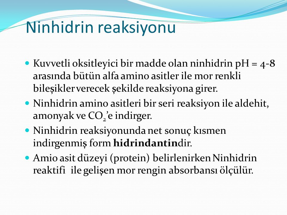 Ninhidrin reaksiyonu