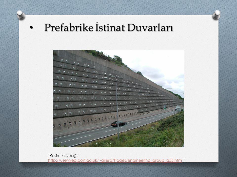 Prefabrike İstinat Duvarları