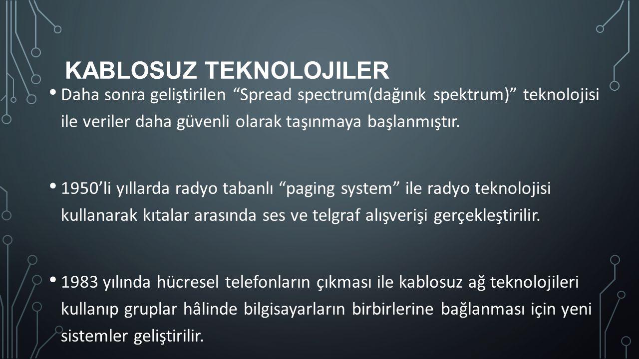 Kablosuz Teknolojiler