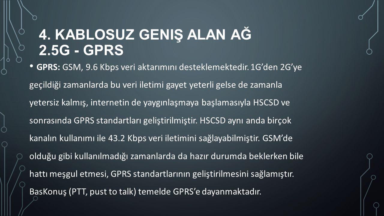 4. Kablosuz Geniş Alan Ağ 2.5G - GPRS