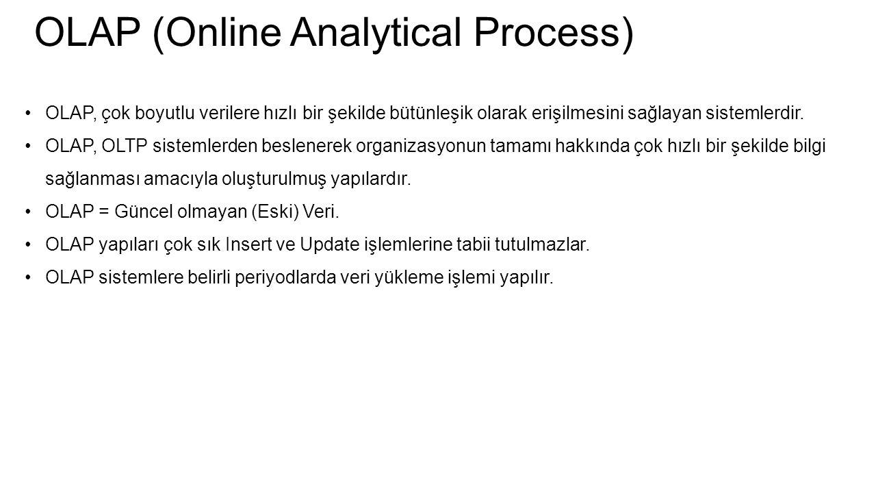 OLAP (Online Analytical Process)