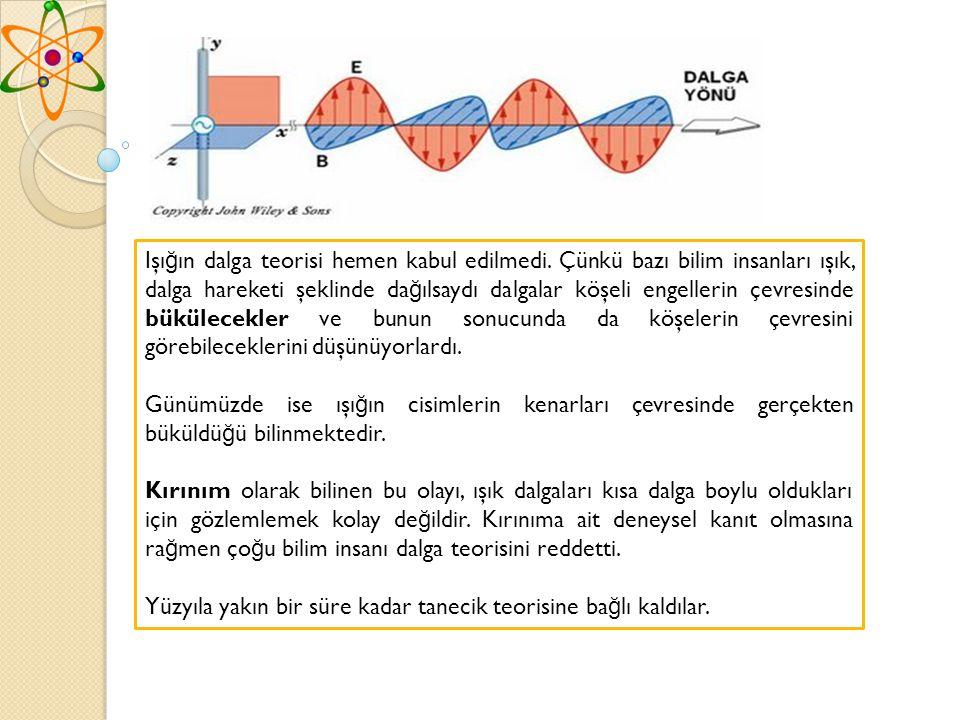 Işığın dalga teorisi hemen kabul edilmedi