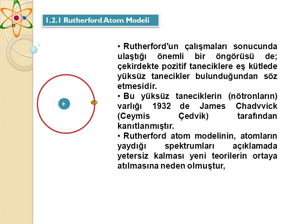 1.2.1 Rutherford Atom Modeli
