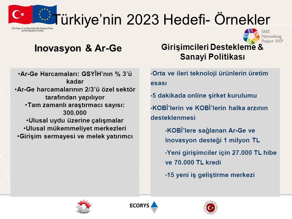 Türkiye'nin 2023 Hedefi- Örnekler