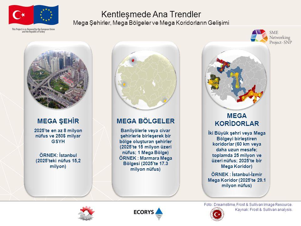 Kentleşmede Ana Trendler Mega Şehirler, Mega Bölgeler ve Mega Koridorların Gelişimi