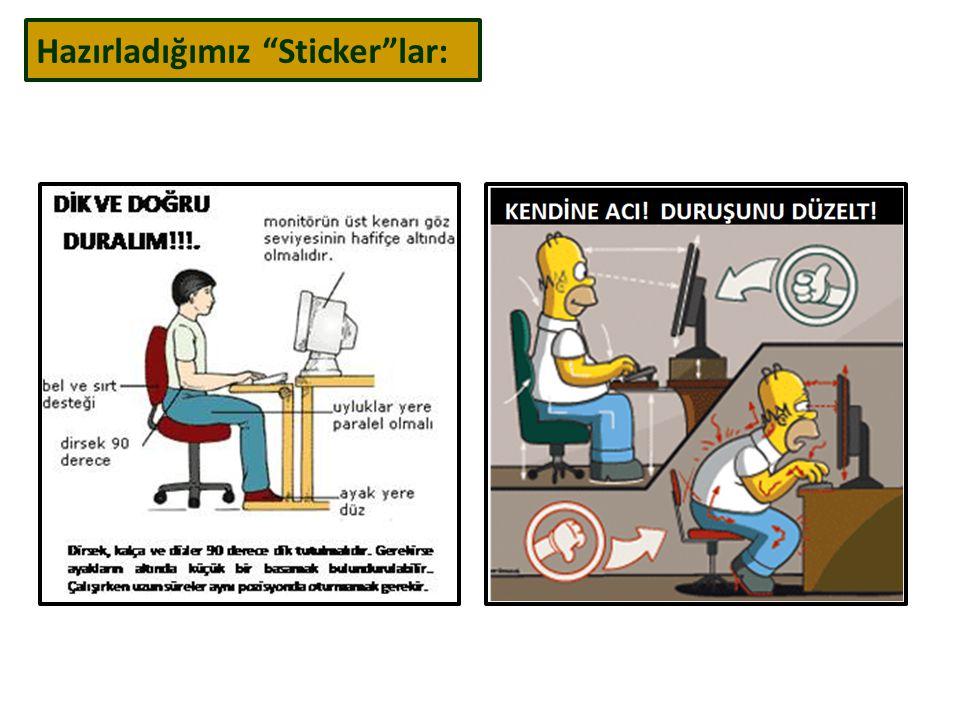 Hazırladığımız Sticker lar: