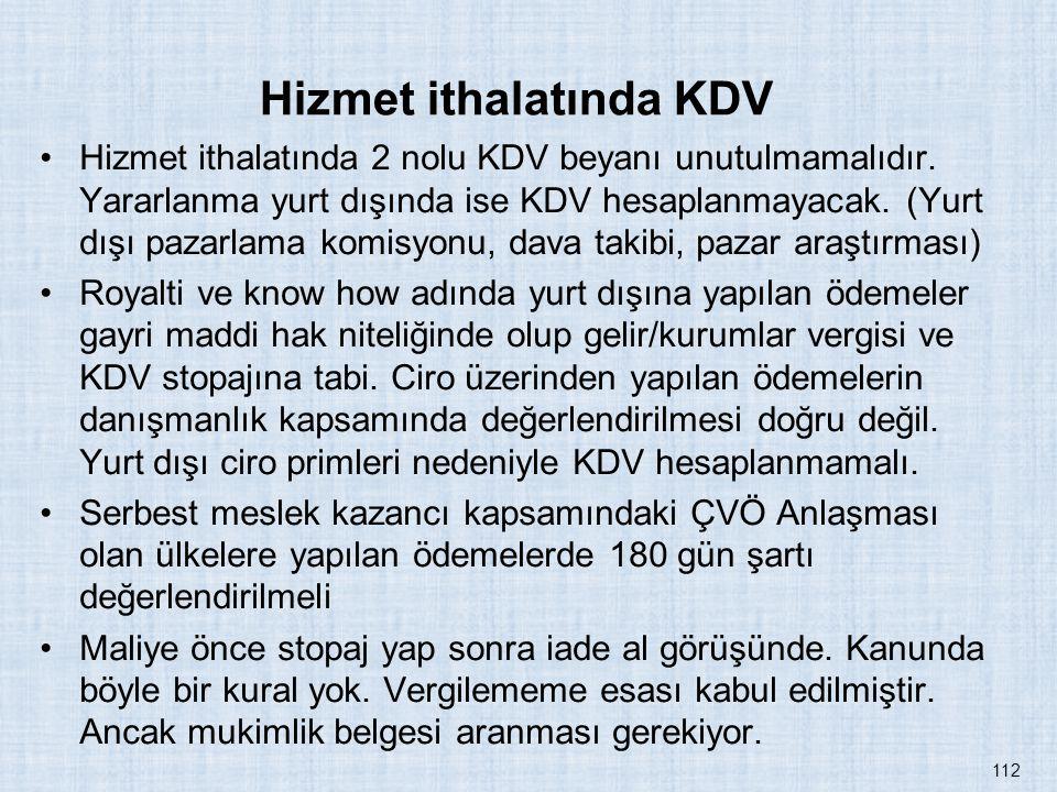 Hizmet ithalatında KDV